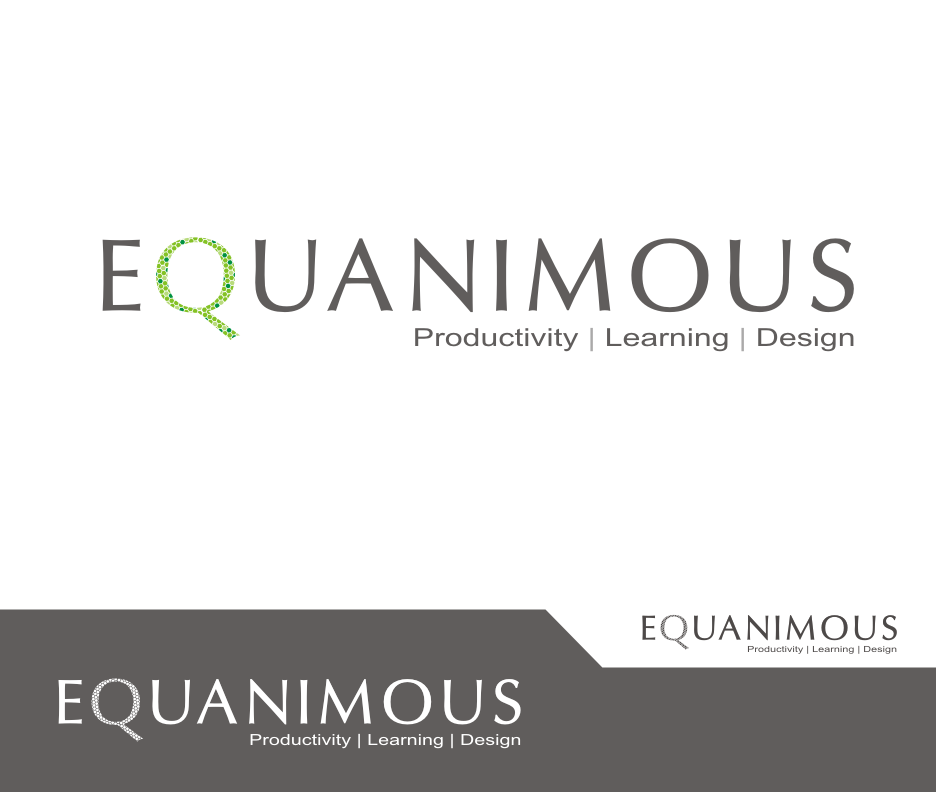 Logo Design by Joe Teach - Entry No. 504 in the Logo Design Contest Logo Design : EQUANIMOUS : Productivity | Learning | Design.