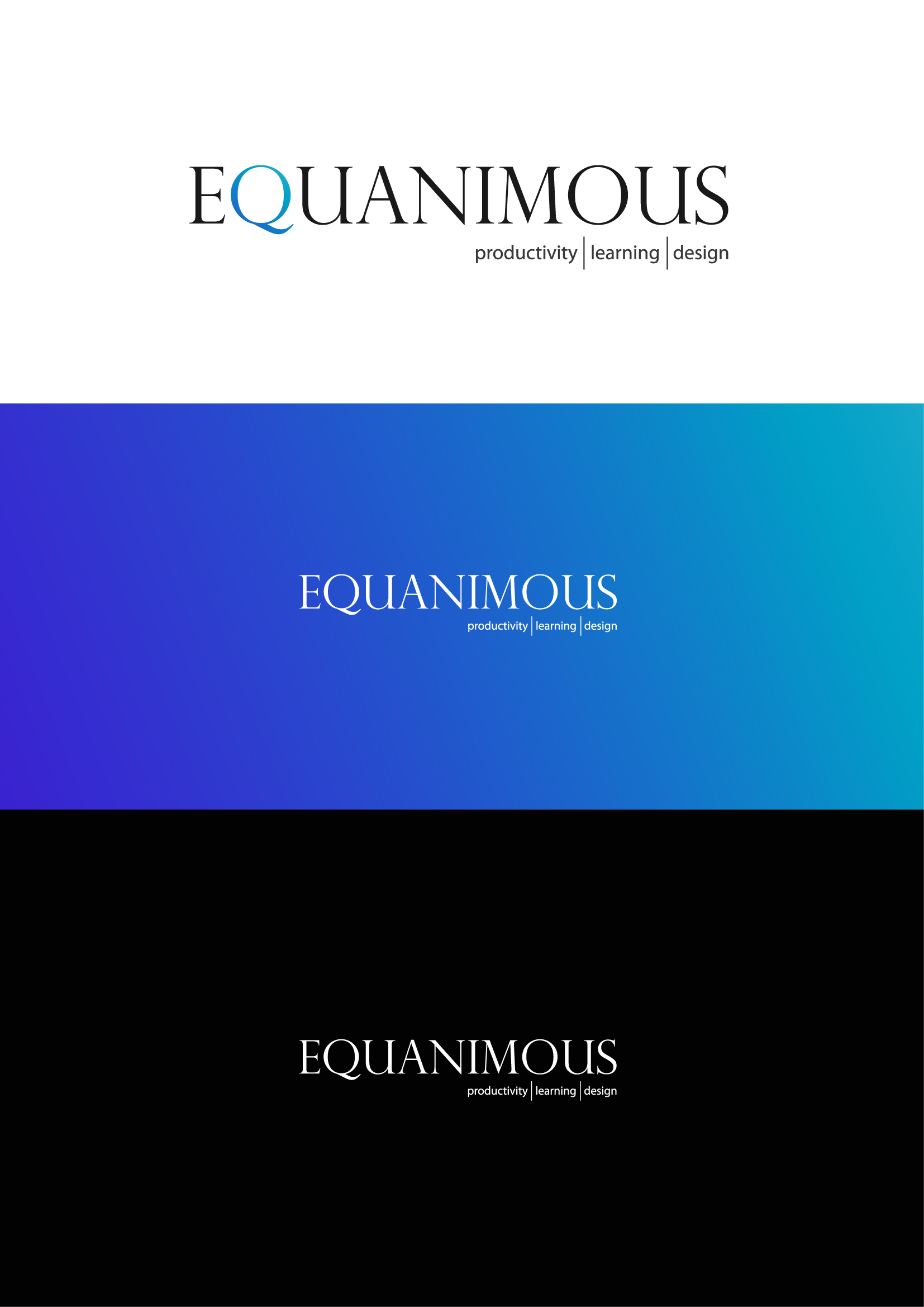 Logo Design by Osi Indra - Entry No. 505 in the Logo Design Contest Logo Design : EQUANIMOUS : Productivity | Learning | Design.