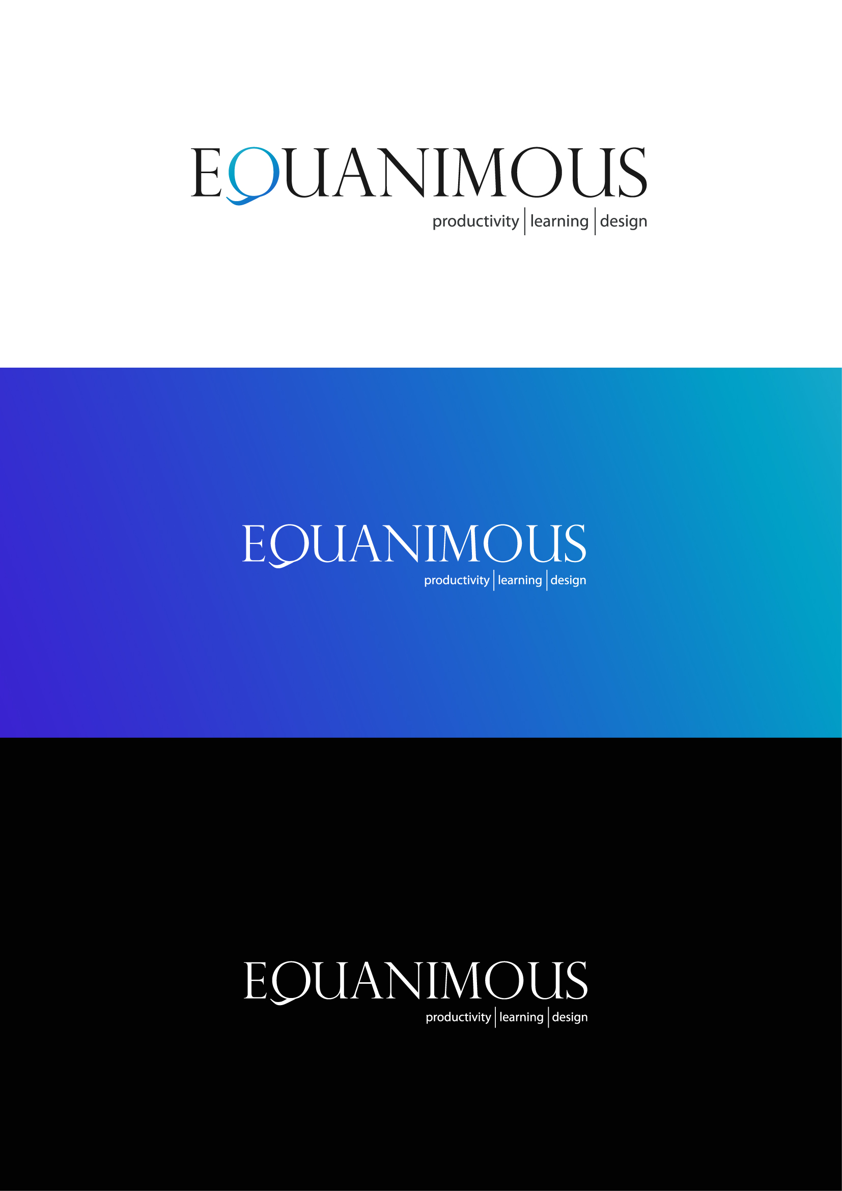Logo Design by Osi Indra - Entry No. 506 in the Logo Design Contest Logo Design : EQUANIMOUS : Productivity | Learning | Design.