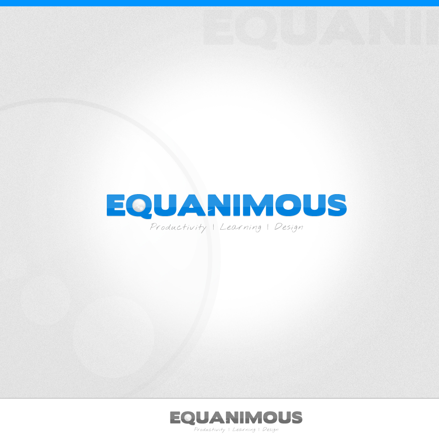 Logo Design by rockpinoy - Entry No. 507 in the Logo Design Contest Logo Design : EQUANIMOUS : Productivity | Learning | Design.