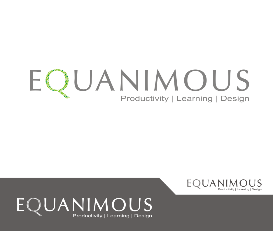 Logo Design by Joe Teach - Entry No. 510 in the Logo Design Contest Logo Design : EQUANIMOUS : Productivity | Learning | Design.
