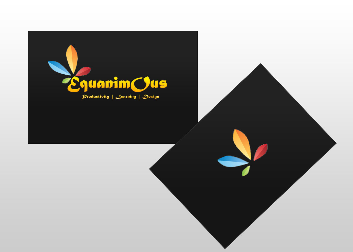 Logo Design by DOUMA AMINE - Entry No. 518 in the Logo Design Contest Logo Design : EQUANIMOUS : Productivity | Learning | Design.