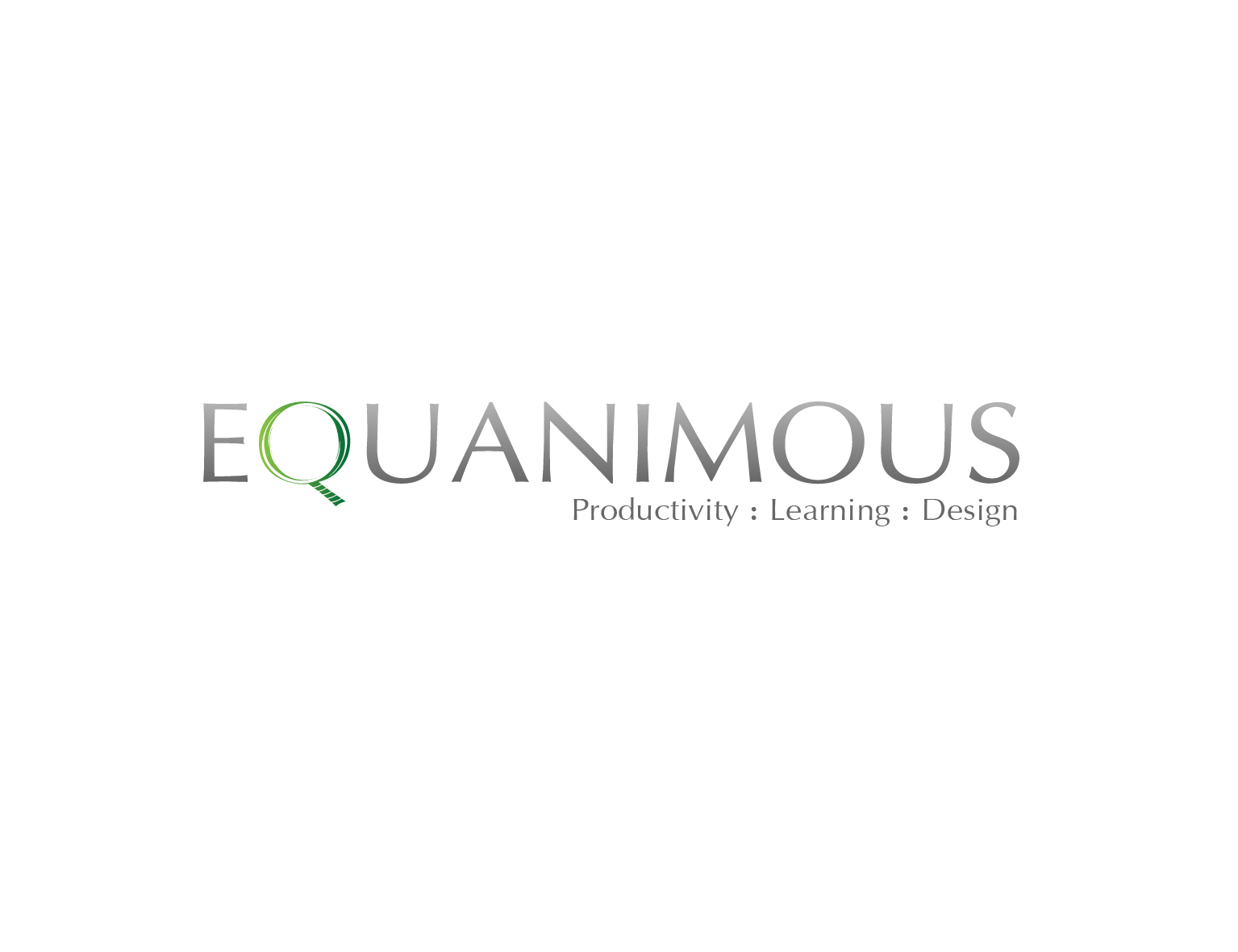 Logo Design by 3draw - Entry No. 522 in the Logo Design Contest Logo Design : EQUANIMOUS : Productivity | Learning | Design.
