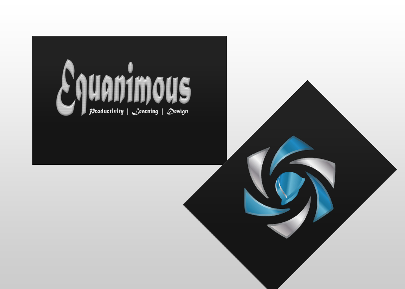 Logo Design by DOUMA AMINE - Entry No. 523 in the Logo Design Contest Logo Design : EQUANIMOUS : Productivity | Learning | Design.