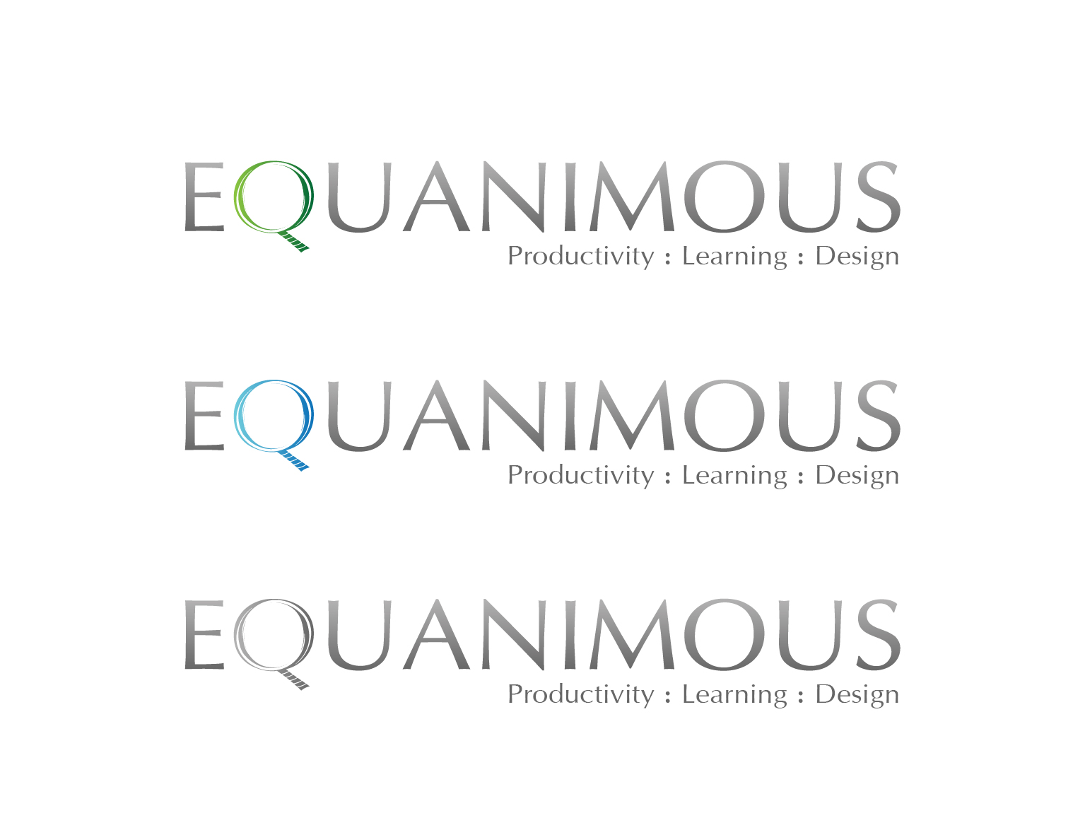 Logo Design by 3draw - Entry No. 525 in the Logo Design Contest Logo Design : EQUANIMOUS : Productivity | Learning | Design.