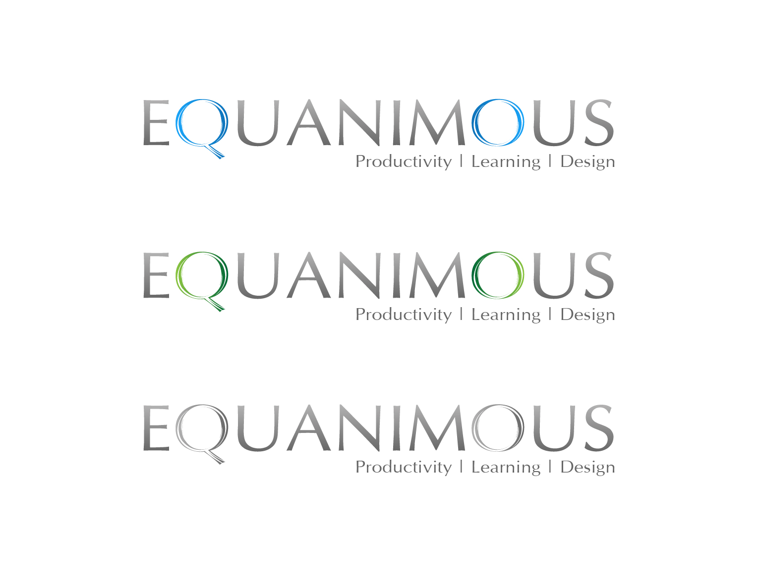 Logo Design by 3draw - Entry No. 530 in the Logo Design Contest Logo Design : EQUANIMOUS : Productivity | Learning | Design.