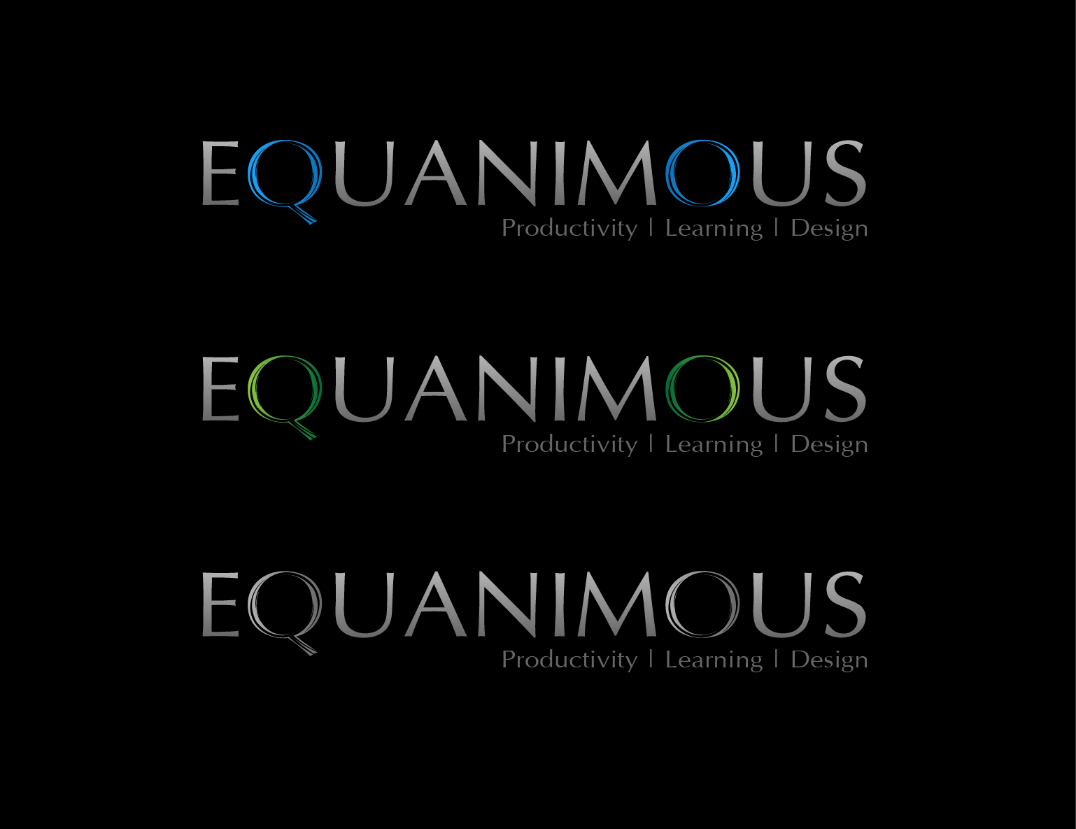 Logo Design by 3draw - Entry No. 531 in the Logo Design Contest Logo Design : EQUANIMOUS : Productivity | Learning | Design.