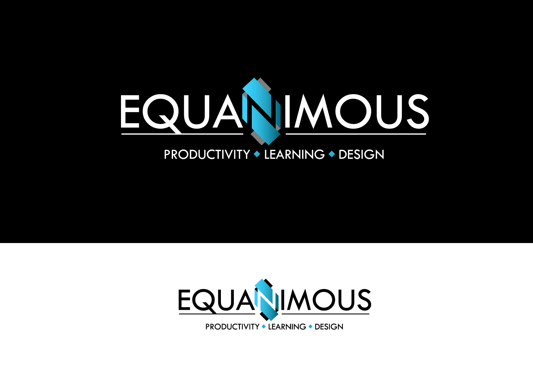 Logo Design by Wilfredo Mendoza - Entry No. 537 in the Logo Design Contest Logo Design : EQUANIMOUS : Productivity | Learning | Design.