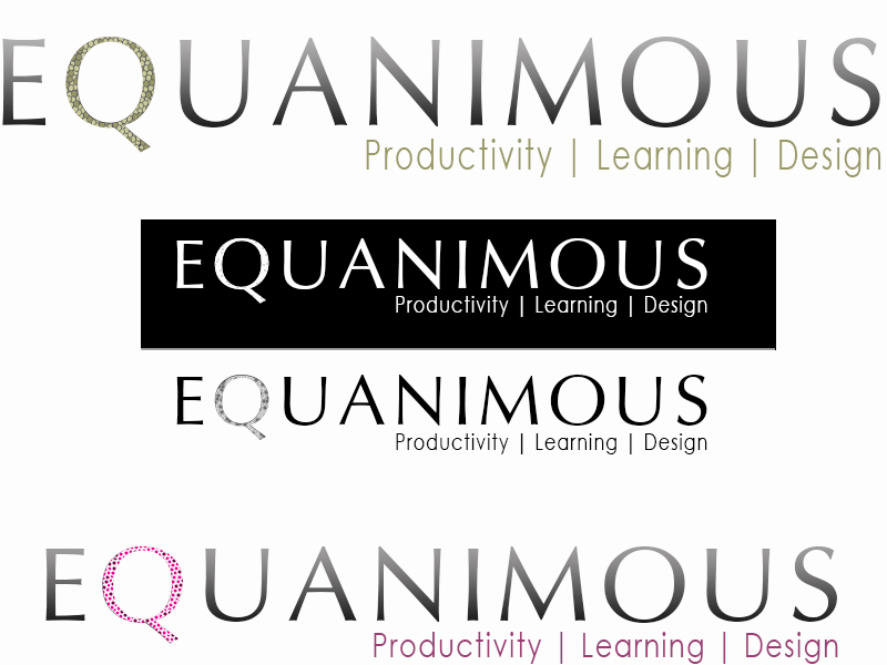Logo Design by Mythos Designs - Entry No. 541 in the Logo Design Contest Logo Design : EQUANIMOUS : Productivity | Learning | Design.