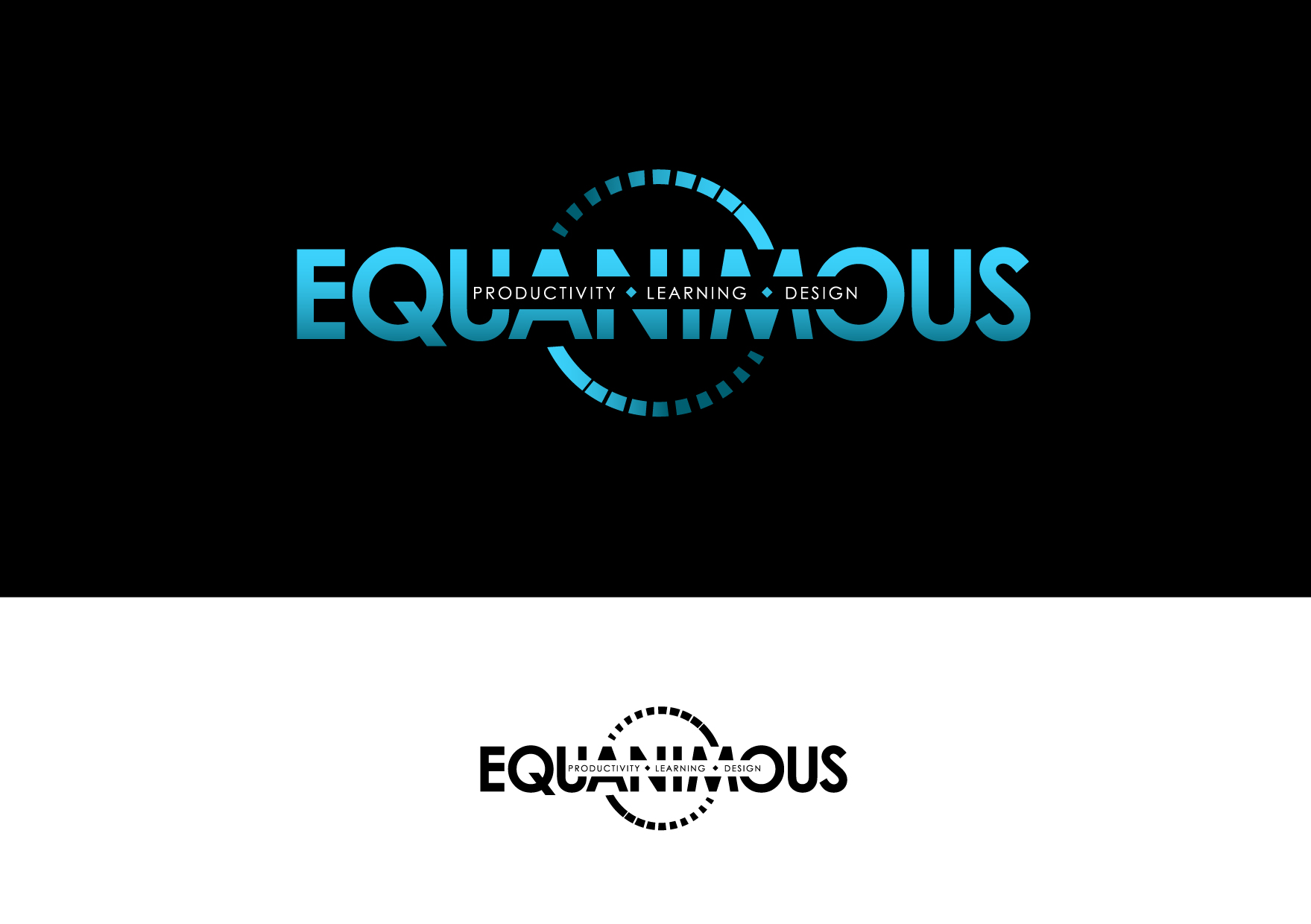 Logo Design by Wilfredo Mendoza - Entry No. 543 in the Logo Design Contest Logo Design : EQUANIMOUS : Productivity | Learning | Design.