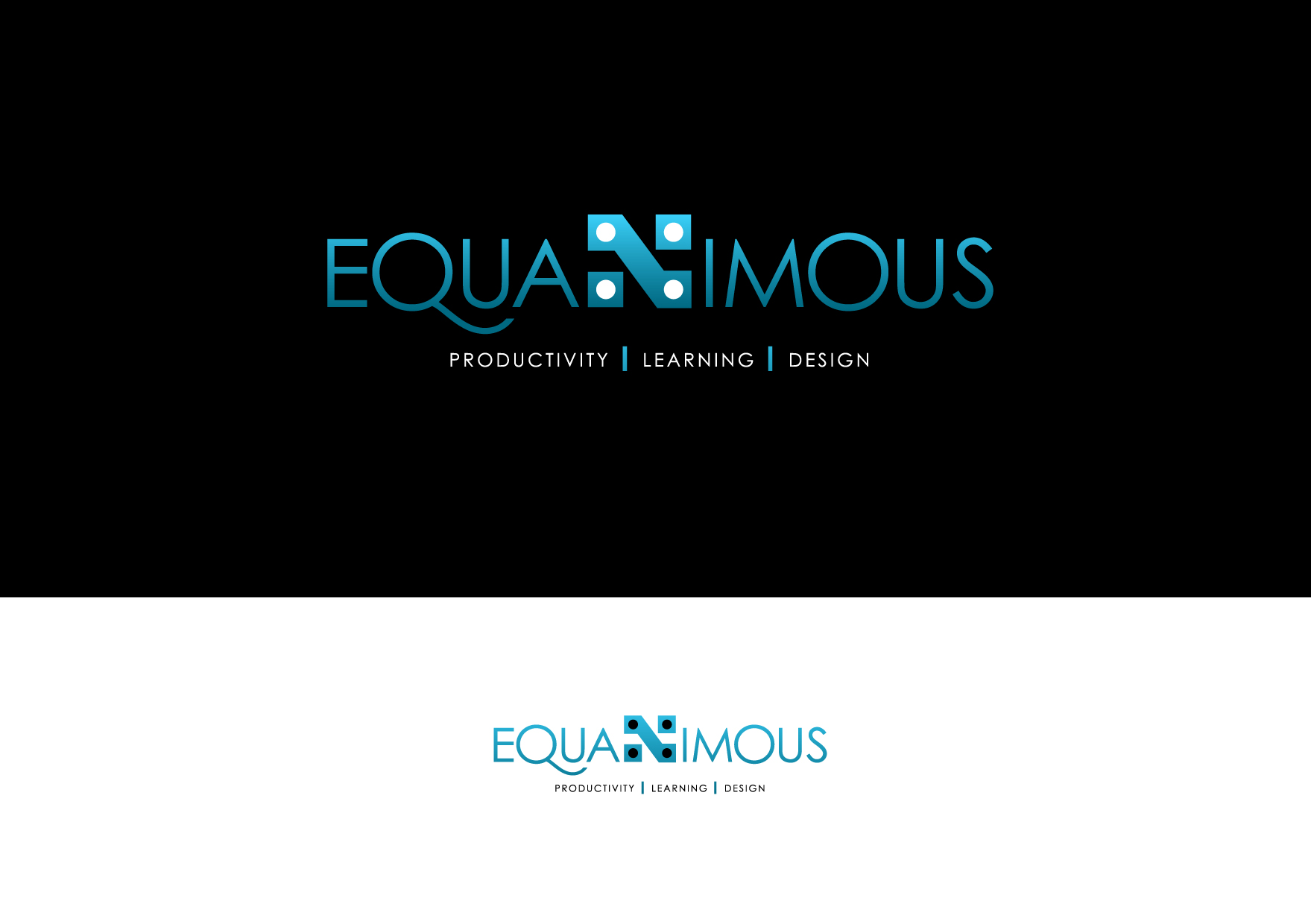 Logo Design by Wilfredo Mendoza - Entry No. 544 in the Logo Design Contest Logo Design : EQUANIMOUS : Productivity | Learning | Design.