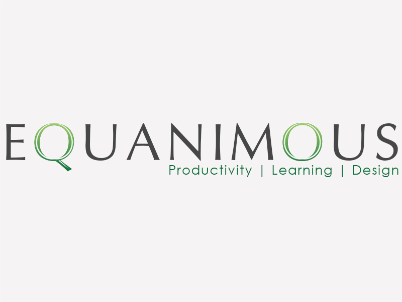 Logo Design by Mythos Designs - Entry No. 550 in the Logo Design Contest Logo Design : EQUANIMOUS : Productivity | Learning | Design.