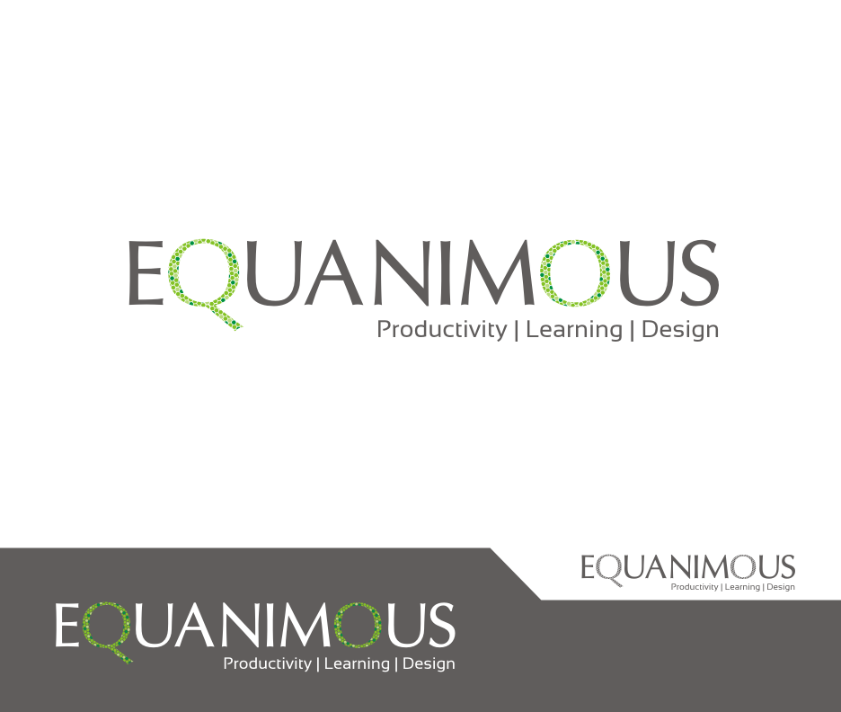 Logo Design by Joe Teach - Entry No. 554 in the Logo Design Contest Logo Design : EQUANIMOUS : Productivity | Learning | Design.