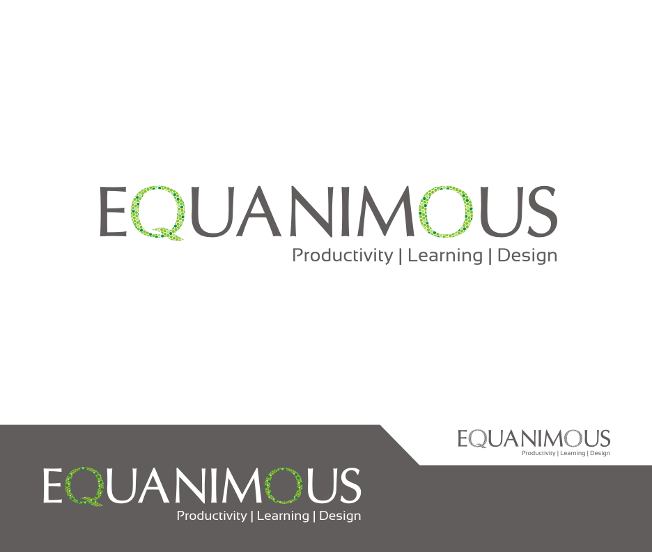 Logo Design by Joe Teach - Entry No. 557 in the Logo Design Contest Logo Design : EQUANIMOUS : Productivity | Learning | Design.