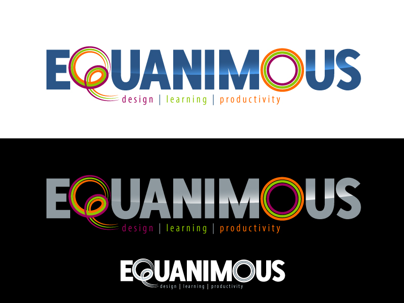 Logo Design by Adames Alwi - Entry No. 562 in the Logo Design Contest Logo Design : EQUANIMOUS : Productivity | Learning | Design.