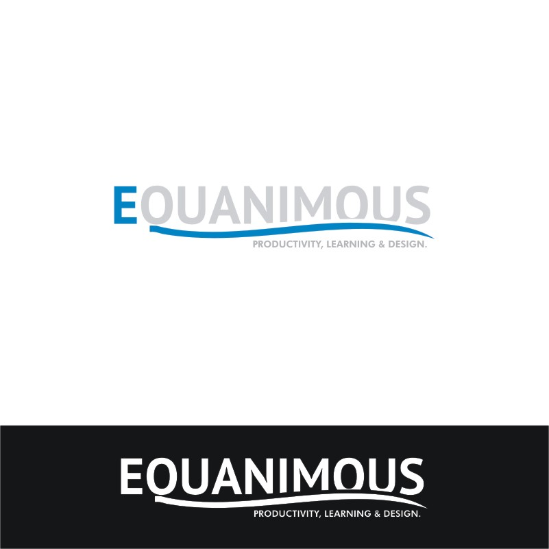 Logo Design by Private User - Entry No. 563 in the Logo Design Contest Logo Design : EQUANIMOUS : Productivity | Learning | Design.