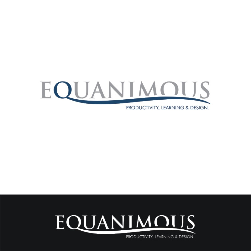 Logo Design by Private User - Entry No. 565 in the Logo Design Contest Logo Design : EQUANIMOUS : Productivity | Learning | Design.