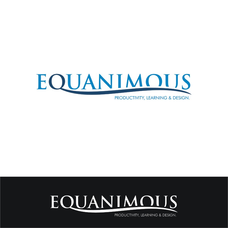 Logo Design by Private User - Entry No. 566 in the Logo Design Contest Logo Design : EQUANIMOUS : Productivity | Learning | Design.