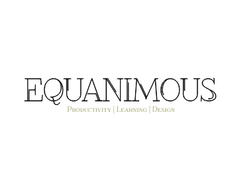 Logo Design by Rudy - Entry No. 568 in the Logo Design Contest Logo Design : EQUANIMOUS : Productivity | Learning | Design.