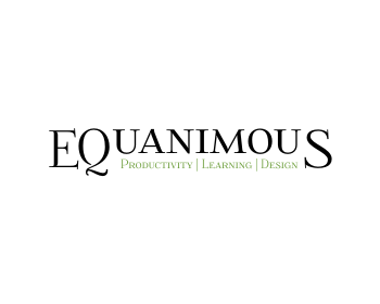 Logo Design by Rudy - Entry No. 569 in the Logo Design Contest Logo Design : EQUANIMOUS : Productivity | Learning | Design.