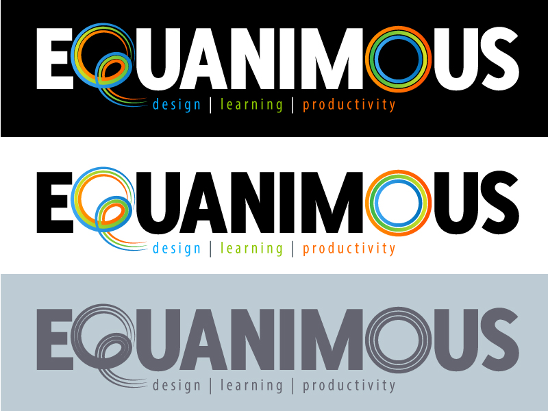Logo Design by Adames Alwi - Entry No. 573 in the Logo Design Contest Logo Design : EQUANIMOUS : Productivity | Learning | Design.