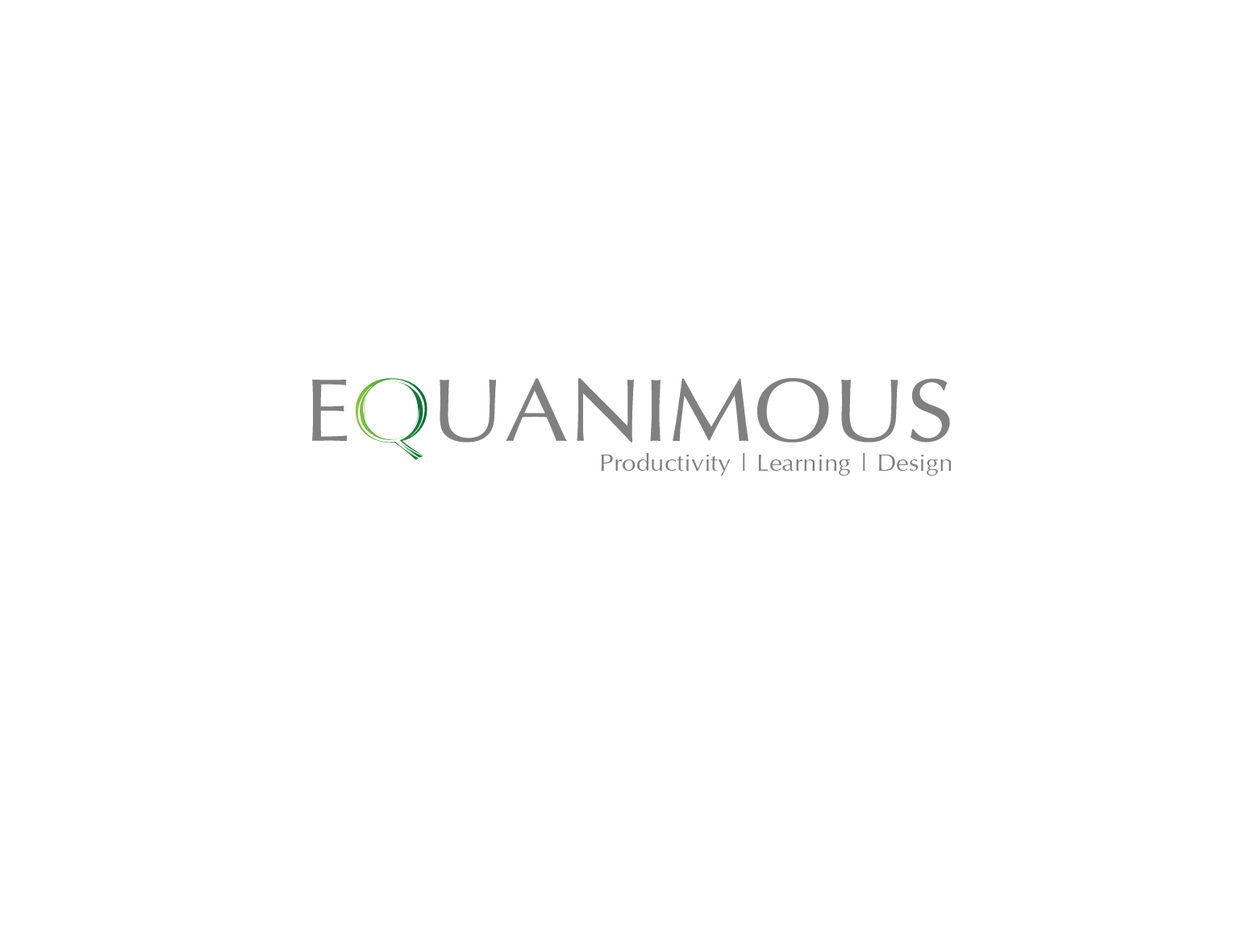 Logo Design by 3draw - Entry No. 580 in the Logo Design Contest Logo Design : EQUANIMOUS : Productivity | Learning | Design.