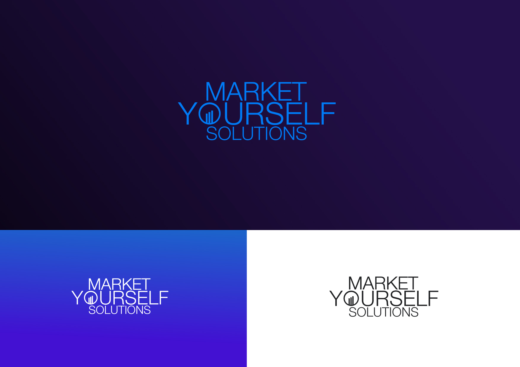 Logo Design by Osi Indra - Entry No. 43 in the Logo Design Contest Fun Logo Design for Market Yourself Solutions.
