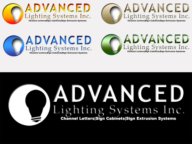 Logo Design by Mythos Designs - Entry No. 175 in the Logo Design Contest New Logo Design Needed for  Company Advanced Lighting Systems Inc..