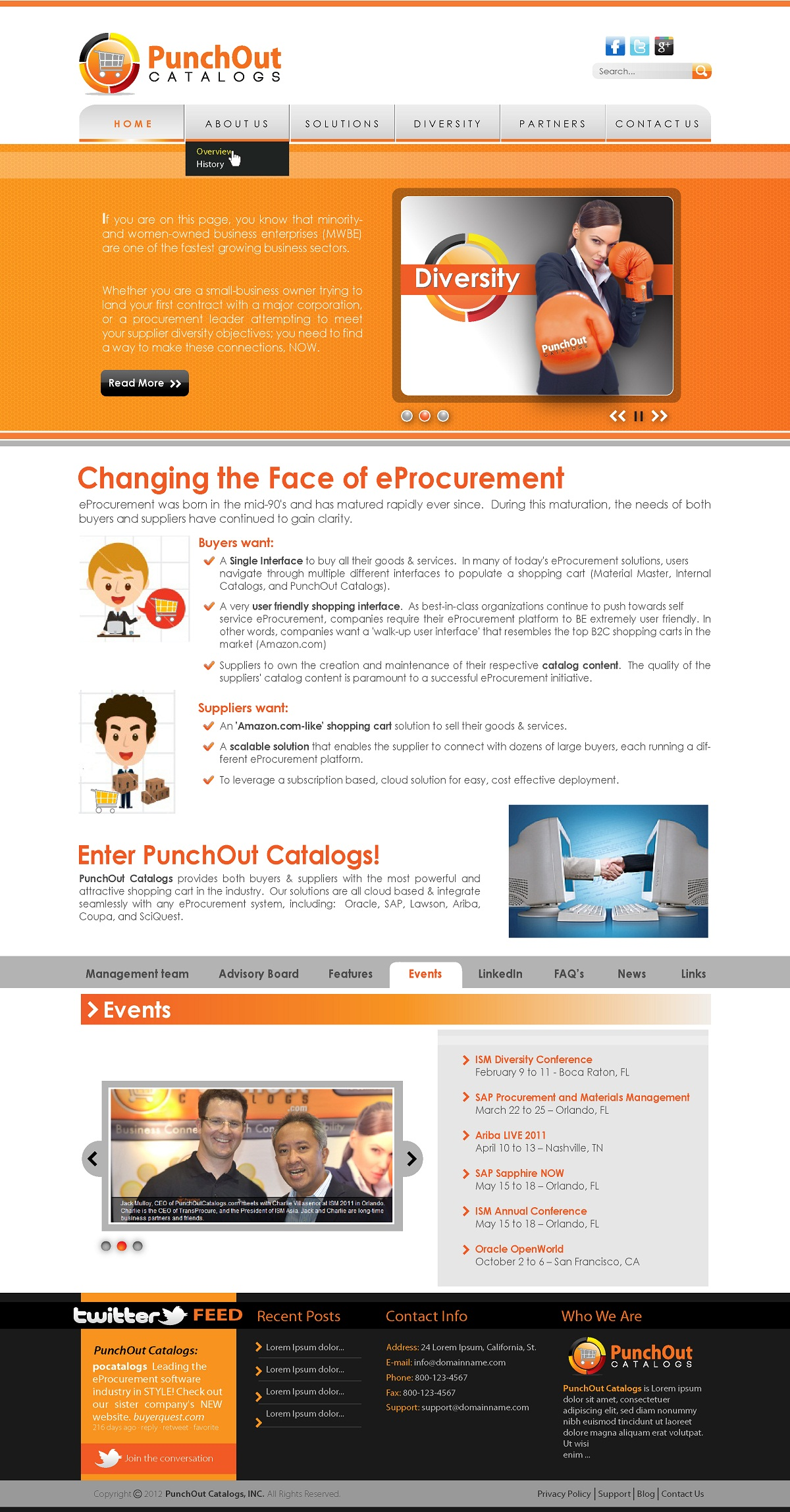 Web Page Design by kowreck - Entry No. 25 in the Web Page Design Contest Web Page Design Needed for Exciting New Company PunchOut Catalogs.