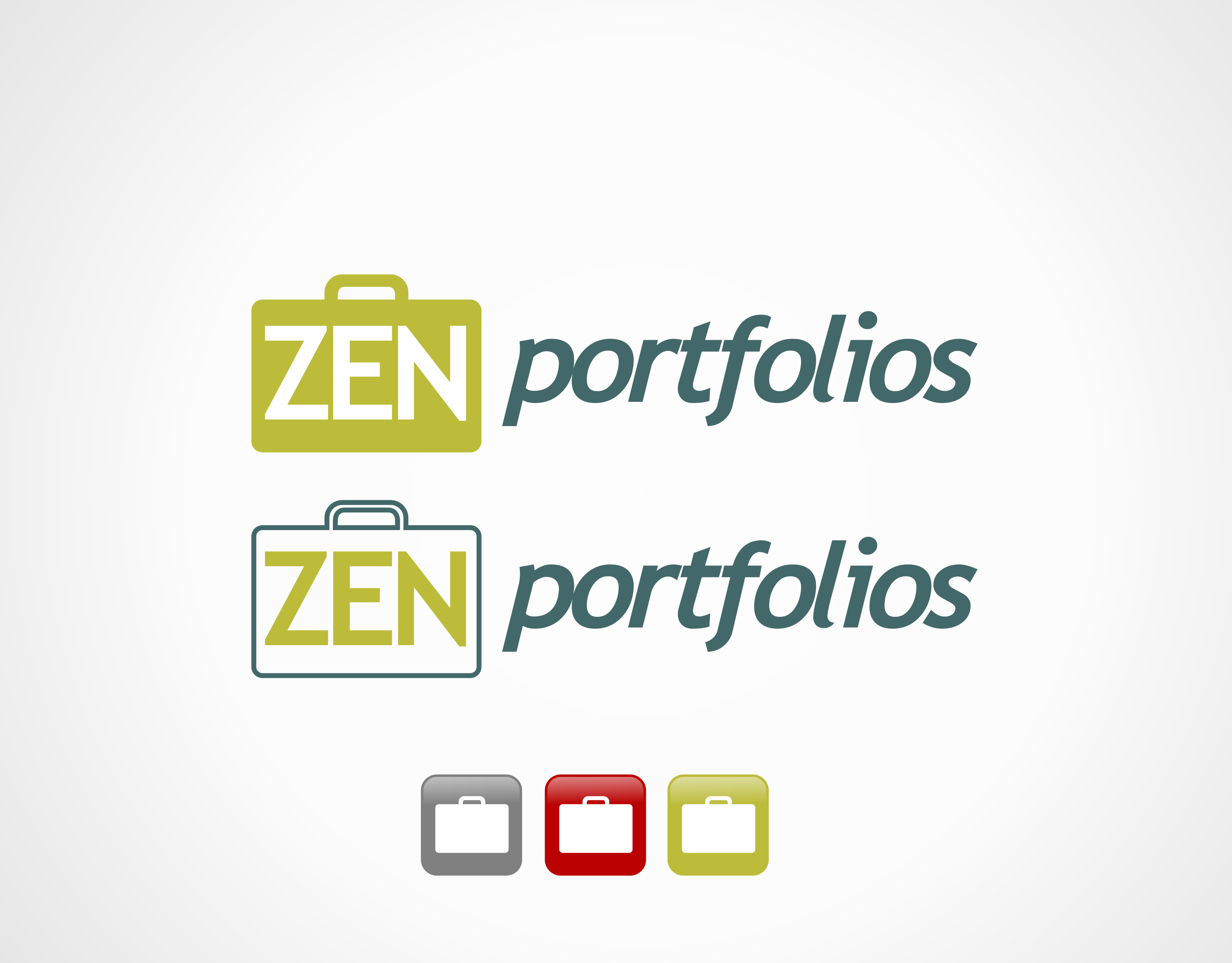 Logo Design by edwin123 - Entry No. 60 in the Logo Design Contest New Logo Design for ZEN Portfolios.