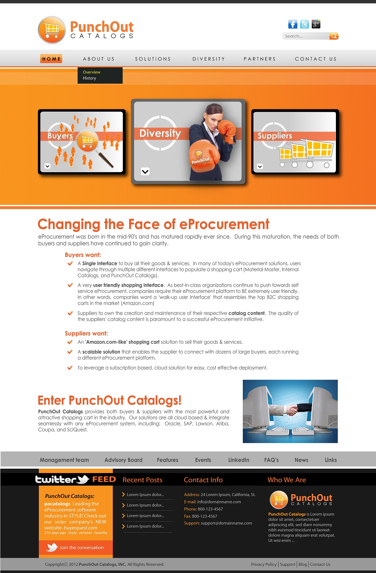 Web Page Design by kowreck - Entry No. 31 in the Web Page Design Contest Web Page Design Needed for Exciting New Company PunchOut Catalogs.