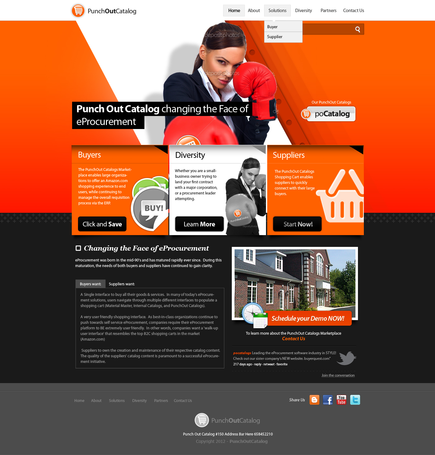 Web page design needed for exciting new company punchout for Web page architecture