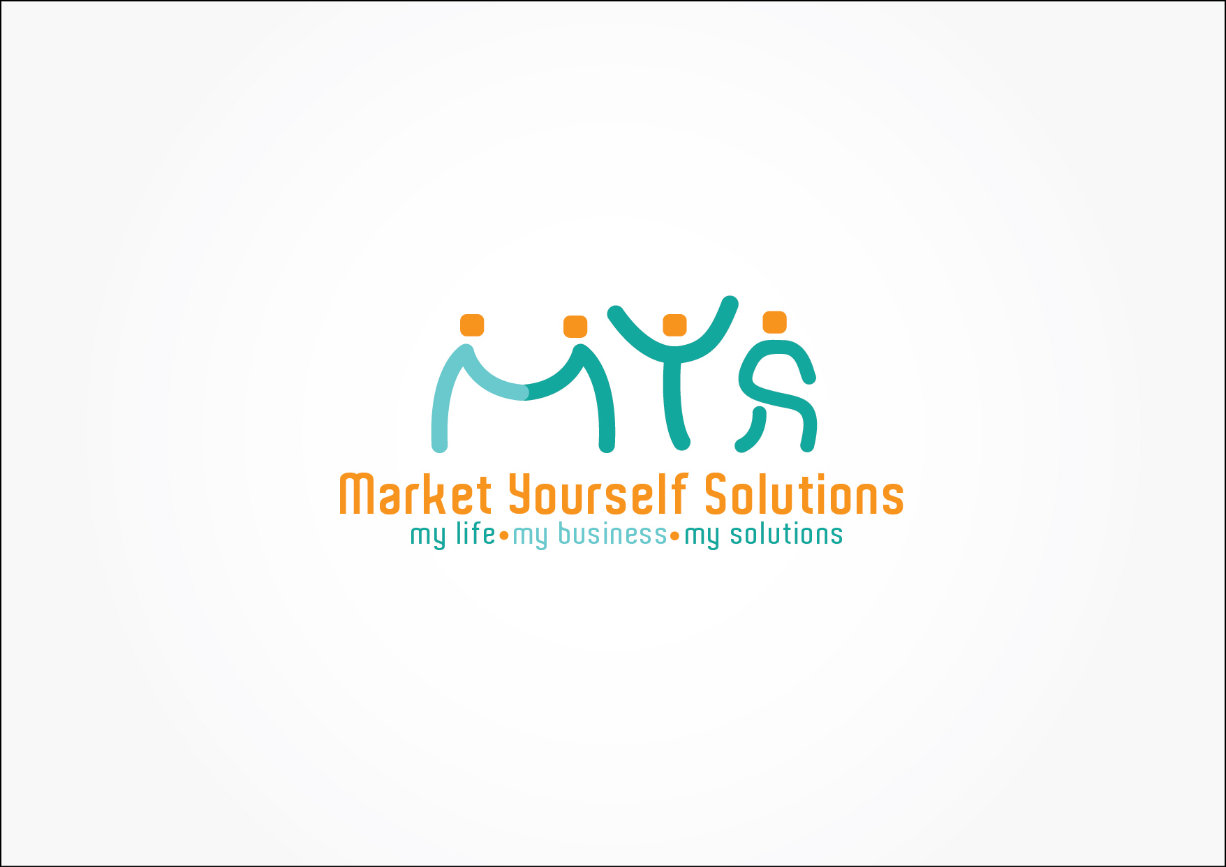 Fun logo design for market yourself solutions hiretheworld Branding and logo design companies