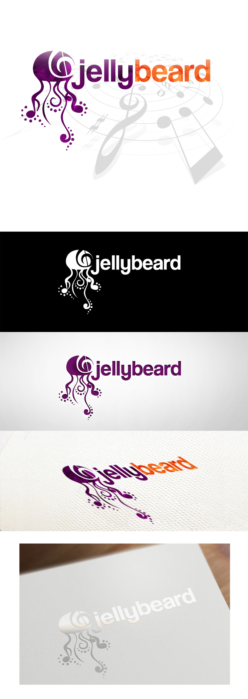 Logo Design by Oliver WangHo - Entry No. 28 in the Logo Design Contest jellybeard Logo Design.