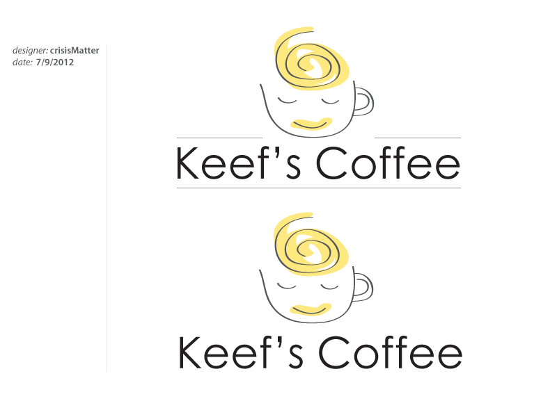 Logo Design by Louis Gan - Entry No. 2 in the Logo Design Contest Keef's coffee Logo Design.