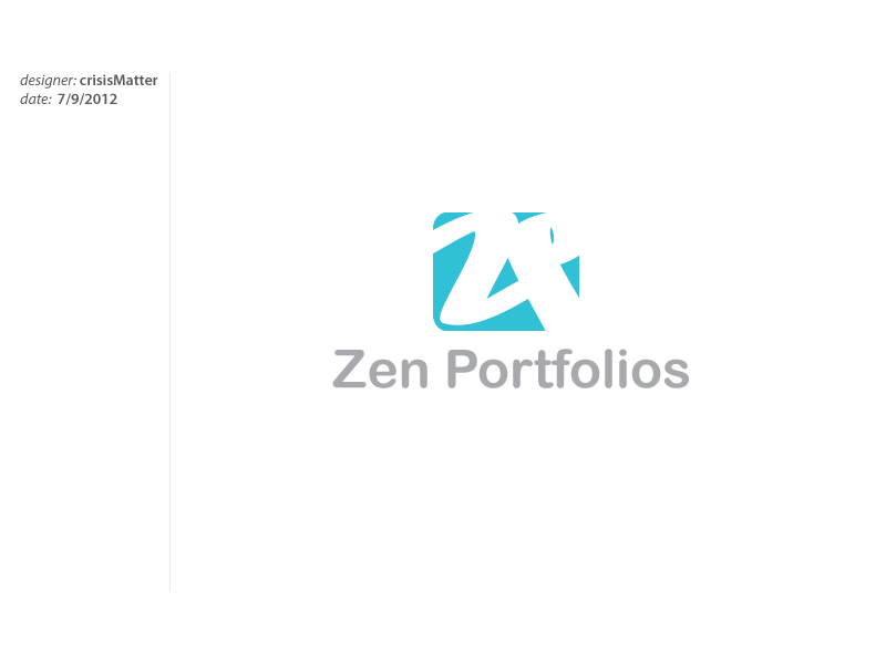Logo Design by Louis Gan - Entry No. 105 in the Logo Design Contest New Logo Design for ZEN Portfolios.