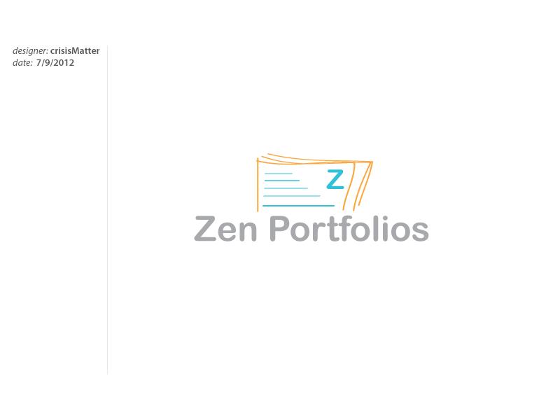Logo Design by Louis Gan - Entry No. 106 in the Logo Design Contest New Logo Design for ZEN Portfolios.