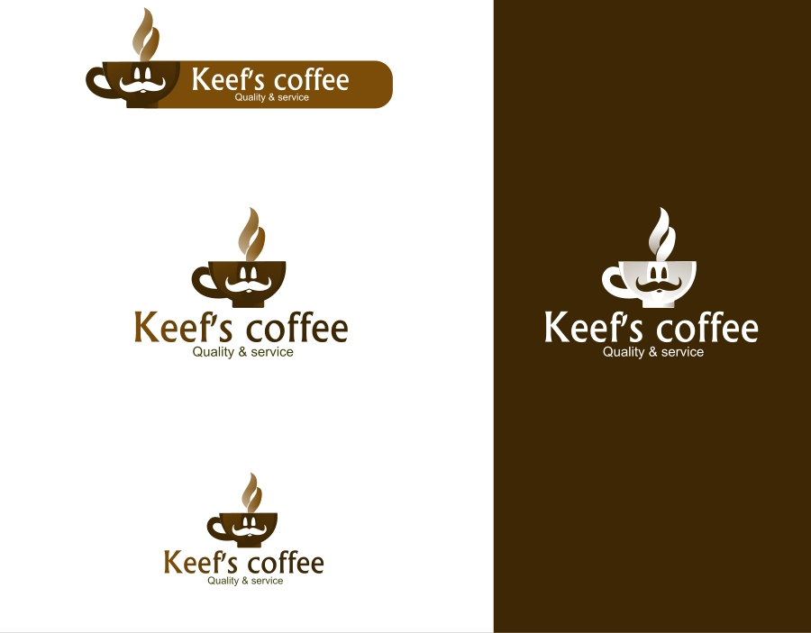 Logo Design by Private User - Entry No. 5 in the Logo Design Contest Keef's coffee Logo Design.