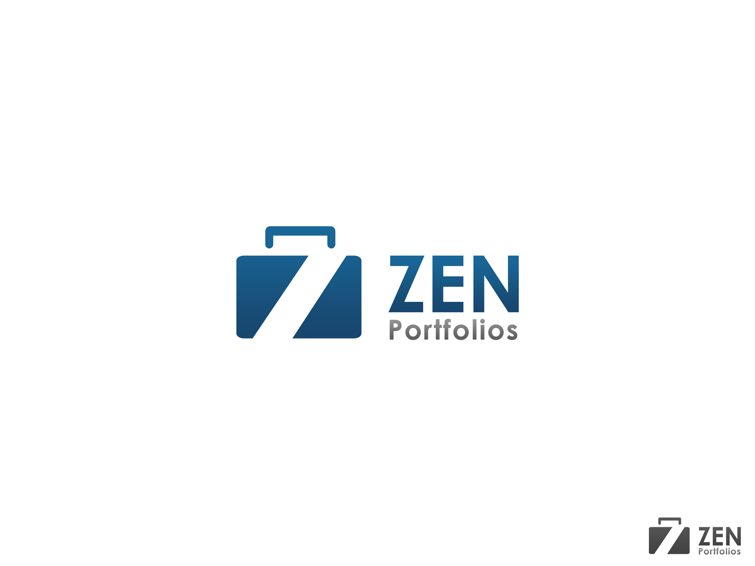 Logo Design by Qoaldjsk - Entry No. 116 in the Logo Design Contest New Logo Design for ZEN Portfolios.