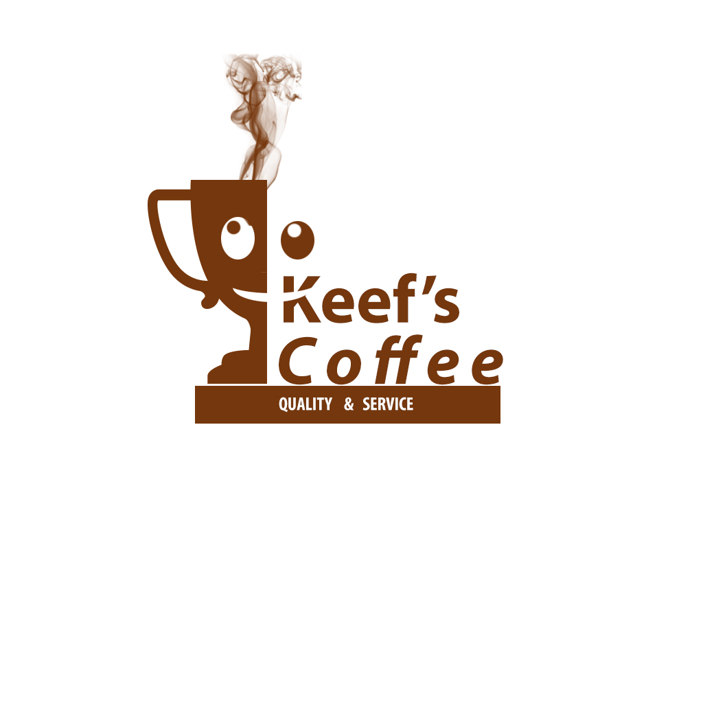 Logo Design by Talvinder Singh - Entry No. 7 in the Logo Design Contest Keef's coffee Logo Design.
