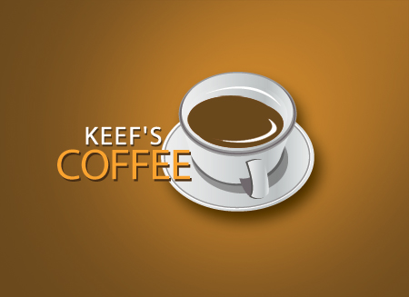 Logo Design by Private User - Entry No. 22 in the Logo Design Contest Keef's coffee Logo Design.