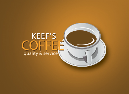 Logo Design by Private User - Entry No. 23 in the Logo Design Contest Keef's coffee Logo Design.