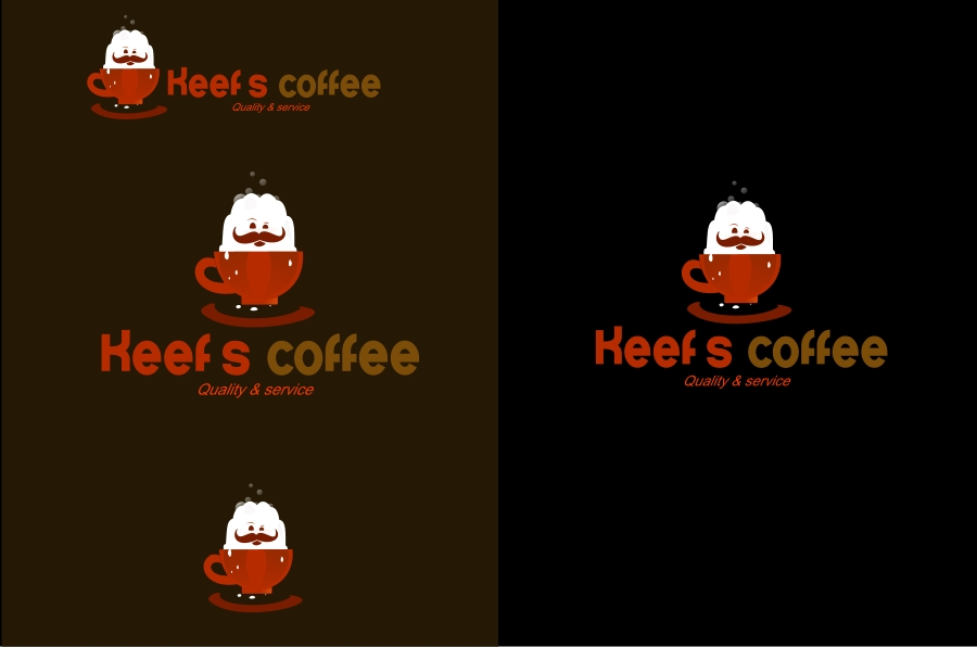 Logo Design by Private User - Entry No. 24 in the Logo Design Contest Keef's coffee Logo Design.