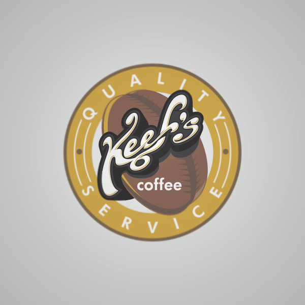 Logo Design by Private User - Entry No. 35 in the Logo Design Contest Keef's coffee Logo Design.