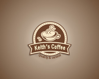 Logo Design by Kathy Harris - Entry No. 39 in the Logo Design Contest Keef's coffee Logo Design.