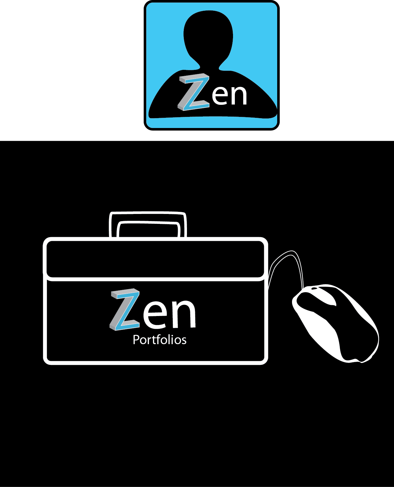 Logo Design by supermansw11 - Entry No. 138 in the Logo Design Contest New Logo Design for ZEN Portfolios.