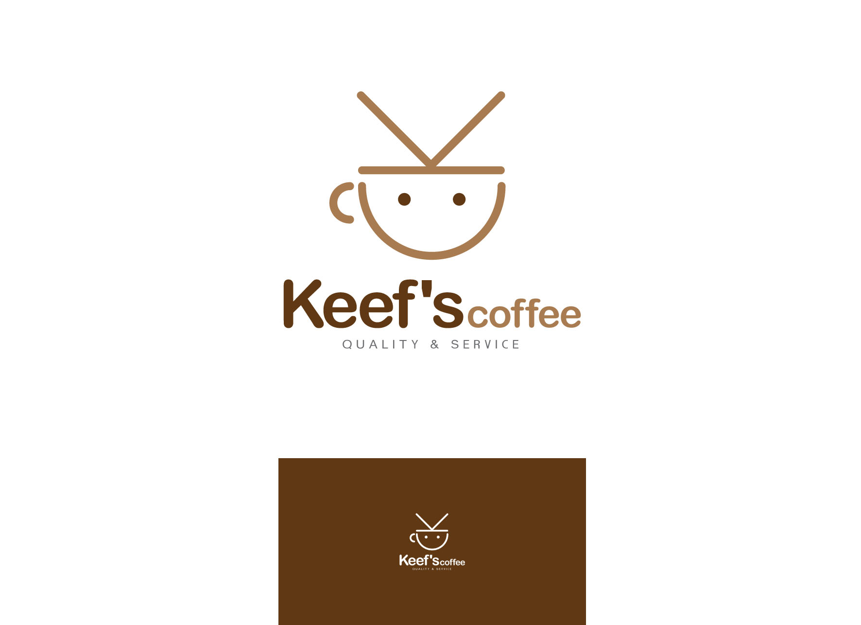 Logo Design by tanganpanas - Entry No. 59 in the Logo Design Contest Keef's coffee Logo Design.