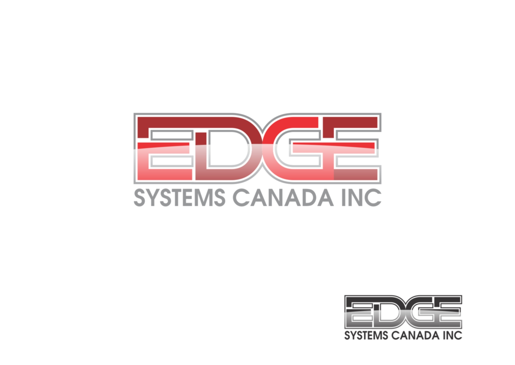 Logo Design by Private User - Entry No. 37 in the Logo Design Contest New Logo Design for Edge Systems Canada Inc.