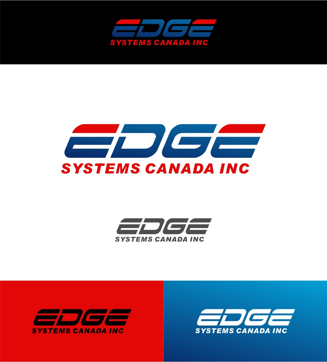 Logo Design by haidu - Entry No. 48 in the Logo Design Contest New Logo Design for Edge Systems Canada Inc.