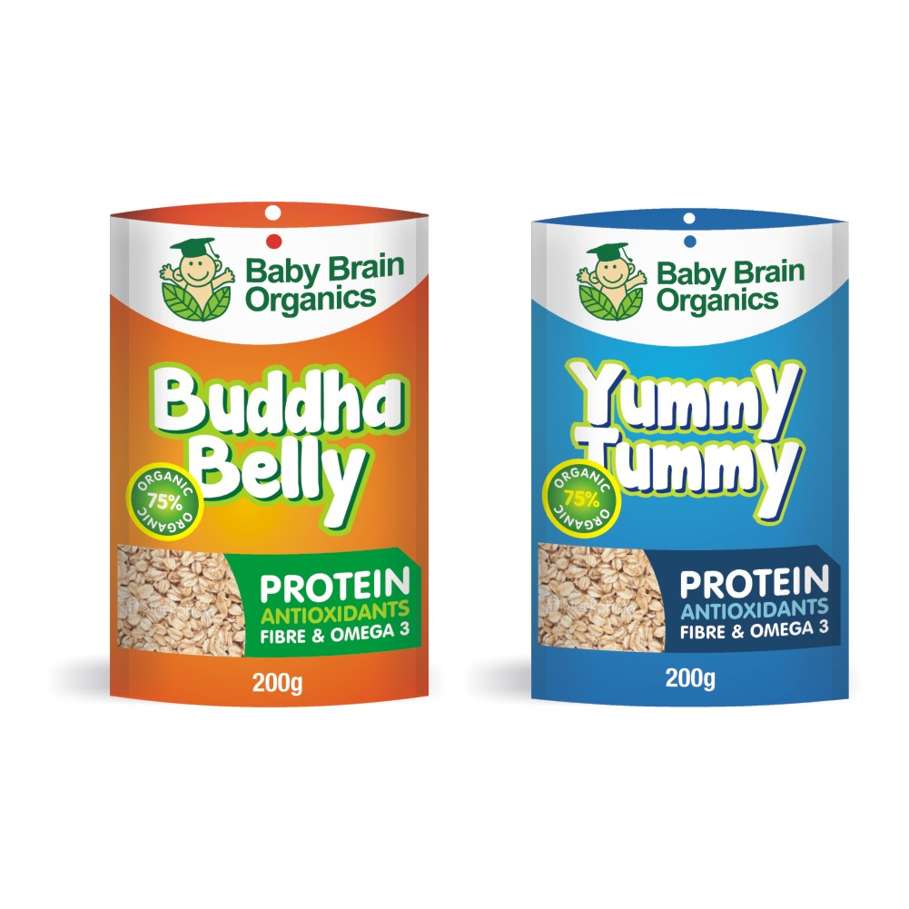 Packaging Design by Private User - Entry No. 9 in the Packaging Design Contest Baby Brain Organics Packaging Design.
